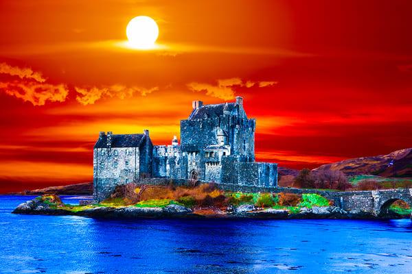 Eilean Donan Castle - Art of Scotland Print By Christopher Gatelock
