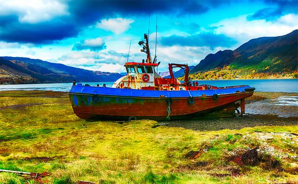 Forgotten Boat - Art of Scotland Print By Christopher Gatelock