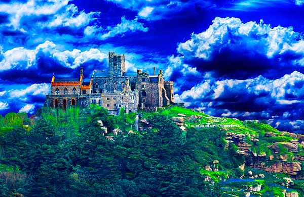 St. Michael's Mount, Cornwall - Art of England Print by Christopher Gatelock