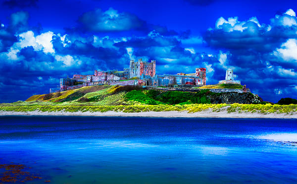Bamburgh Castle - Art of England Print by Christopher Gatelock