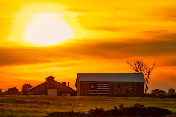Made in America barn sunrise - Upstate New York fine-art photography prints