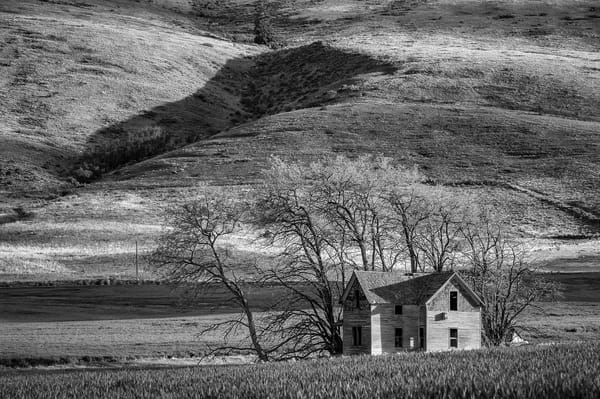 Abandoned Two-Story Farmhouse, P Road NW, Waterville, Washington, 2013