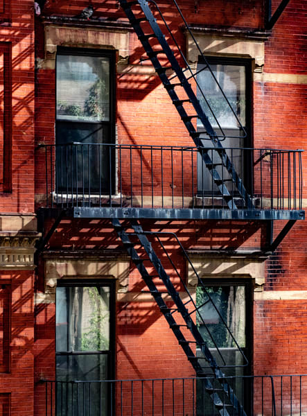 FIRE ESCAPE OFF THE HIGH LINE, NYC
