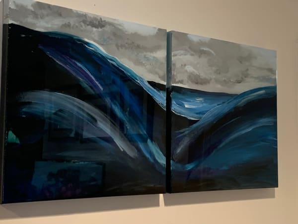 Turbulent Ocean Dyptych (Pair), By Marci Brockmann | Marci Brockmann Author & Artist