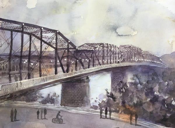 Chattanooga Walnut Street Bridge Art | Romanova Art