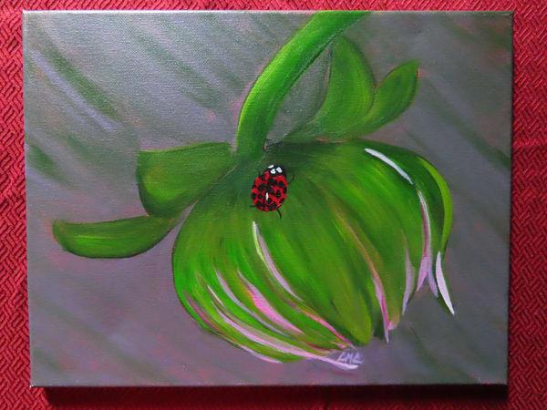 Budding Dahlia & Ladybug | LML Studio Art
