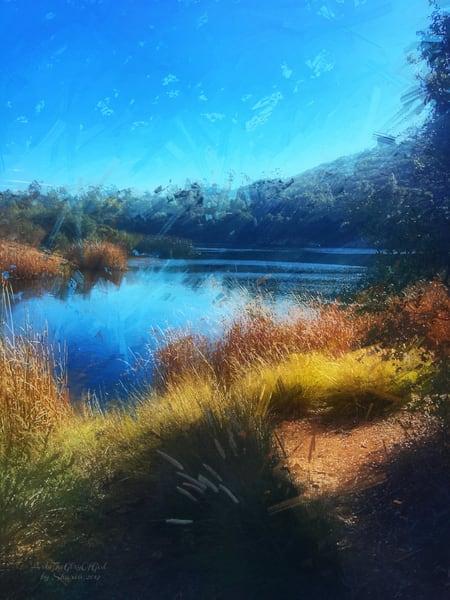 """Dixon Lake Winter Scene"" - digital painting photograph"