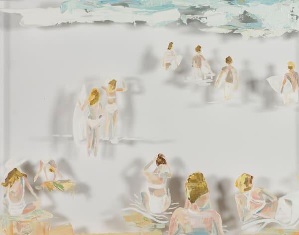 Beach Crowd Art | Meredith Steele Art