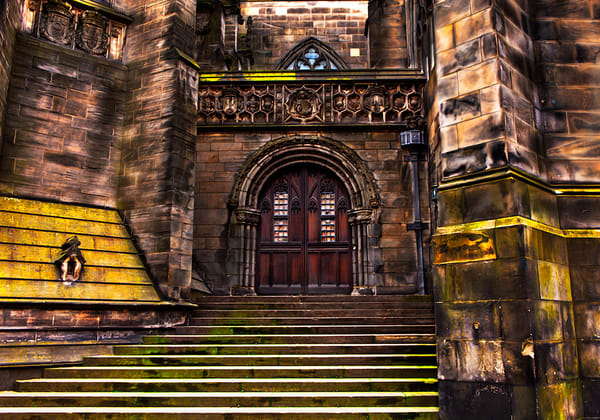 St. Giles Cathedral - Door Art Print By Christopher Gatelock