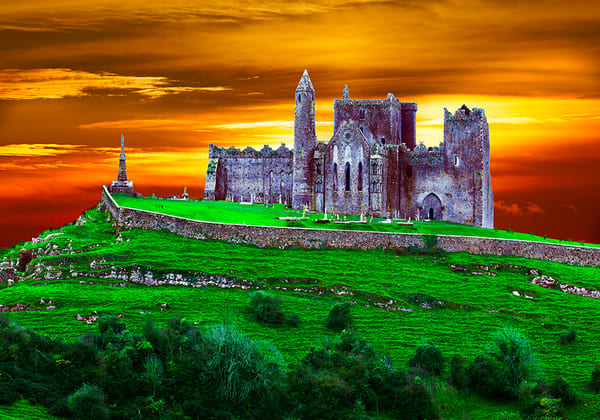 Rock of Cashel Castle - Art of Ireland Print by Christopher Gatelock