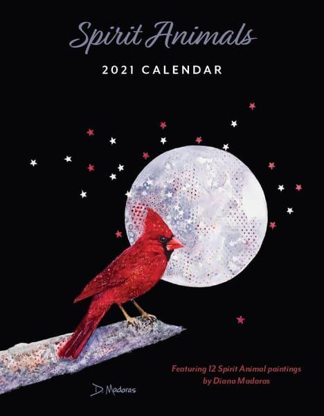 2021 Spirit Animal Mini Wall Calendar   Madaras Gallery