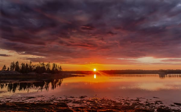 Sunrise At Cobscook Photography Art | Nelson Rudiak Photography