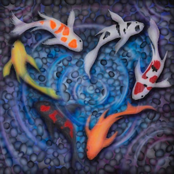 koi, koi-fish, koi-art, luck, fortune, abundance, koi-pond, koi-painting