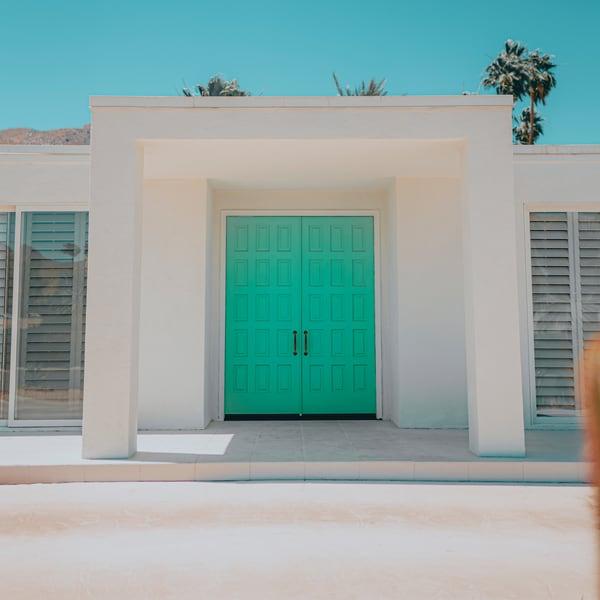 Blue Door 1x1 Photography Art   Matej Silecky
