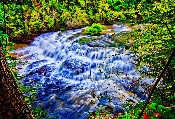 Surreal Rapids - Art of Tennessee Print By Christopher Gatelock
