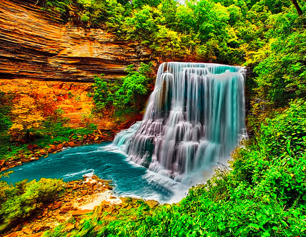 Burgess Falls 4 - Art of Tennessee Print By Christopher Gatelock