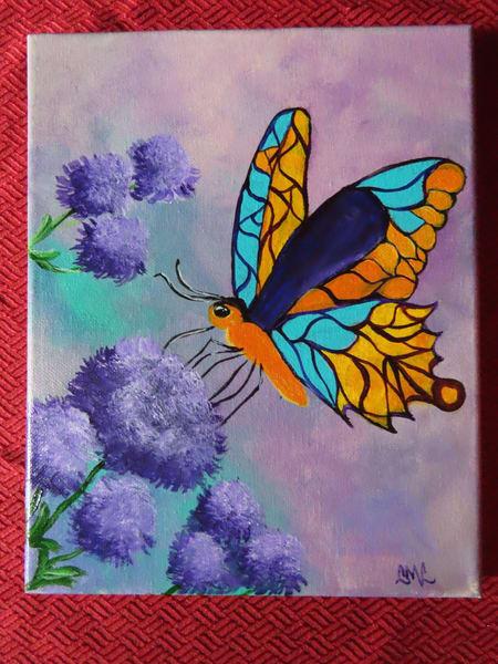Butterfly And Thistle Art | LML Studio Art
