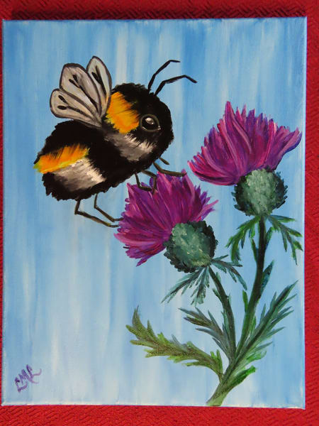 Fluffy Bee Art | LML Studio Art