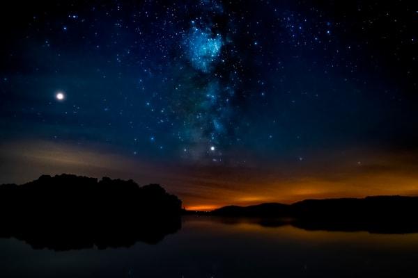 North_Bar Lake, Milky Way, Lake, Stars