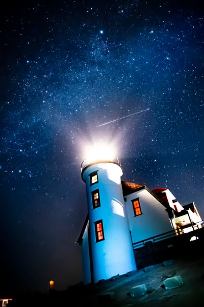 Night Light, Pointe_Betsie, lighthouse, michigan
