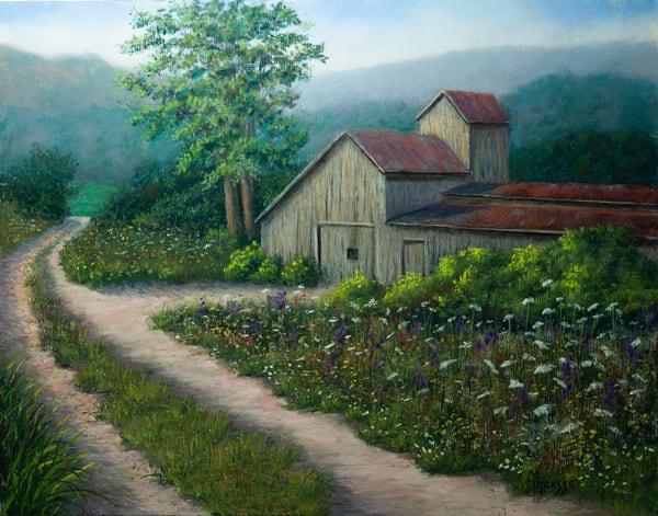 Old Country Barn   Original Art   Mark Grasso Fine Art