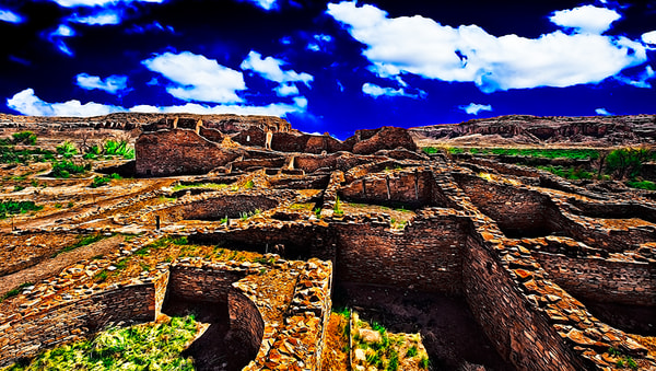 Chaco Canyon Ancient Ruins 1, New Mexico Print By Christopher.   Gatelock