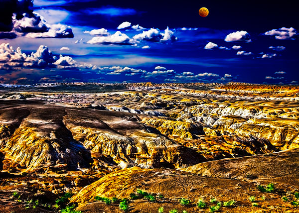 Bisti Badlands 1 - Art of New Mexico Print By Christopher Gatelock