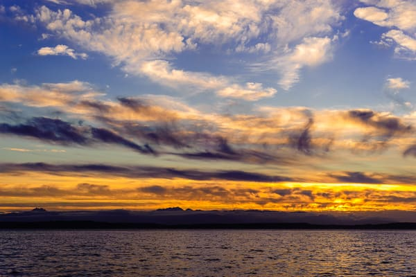 Early Summer Sunset on the Puget Sound, Seattle, Washington, 2014