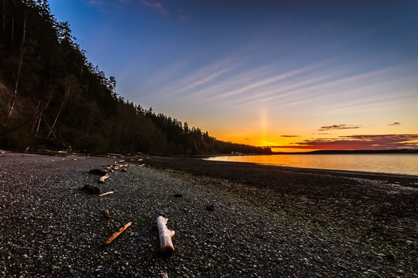 Late Winter Sunset on Penn Cove, Whidbey Island, Washington, 2016
