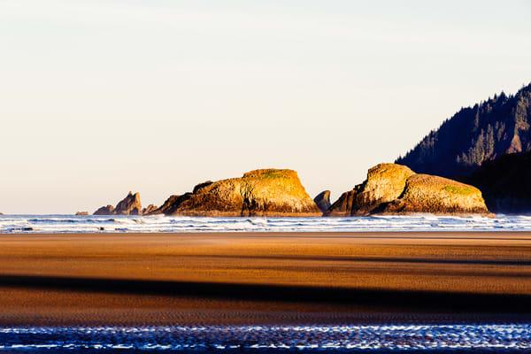 Morning Light Over Bird Rocks, Cannon Beach, Oregon, 2018