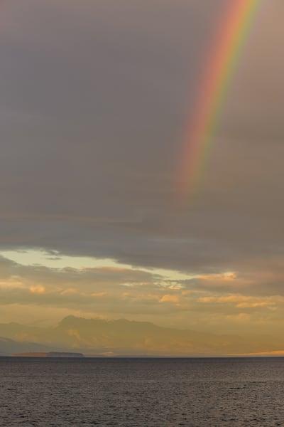 Rainbow Over Admiralty Inlet, Whidbey Island, Washington, 2016