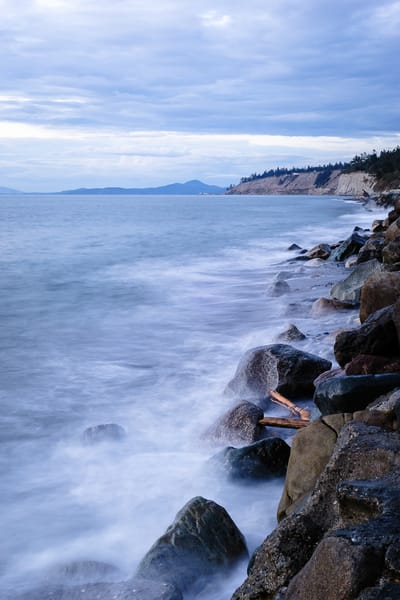Rocky Shoreline, Hastie Lake Boat Launch, Whidbey Island, Washington, 2016