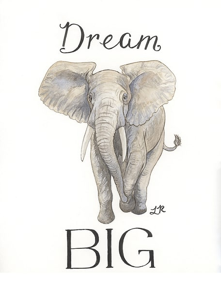 Dream Big Elephant Art | Art a la Carte Gallery