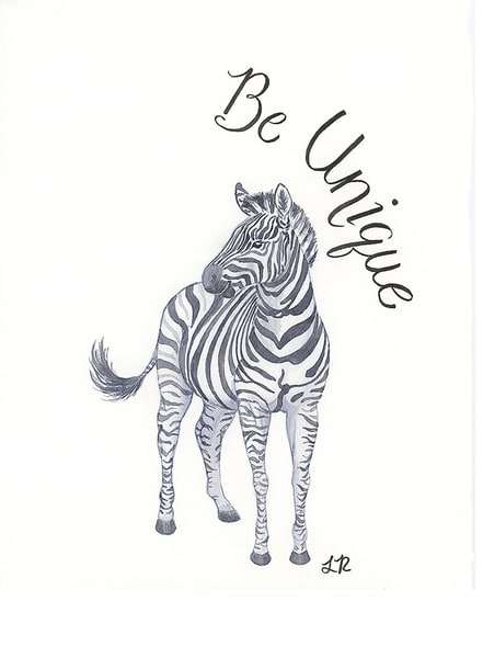 Be Unique Zebra Art | Art a la Carte Gallery