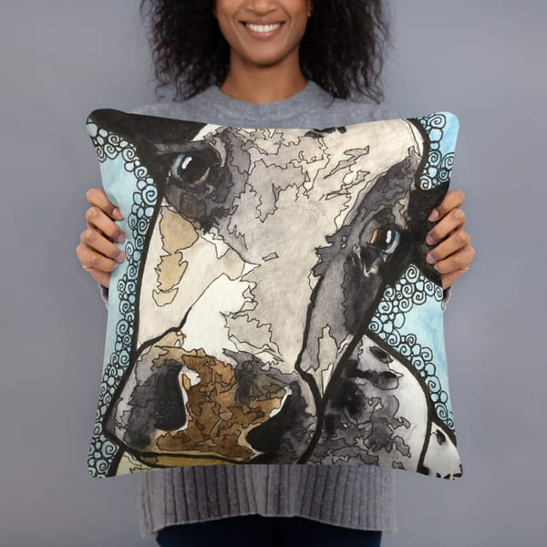 Moo 01 Pillow | Water+Ink Studios
