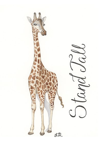 Stand Tall Giraffe Art | Art a la Carte Gallery