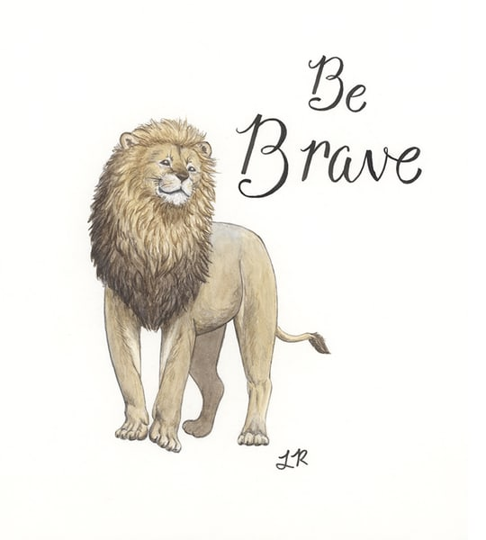 Be Brave Lion Art | Art a la Carte Gallery