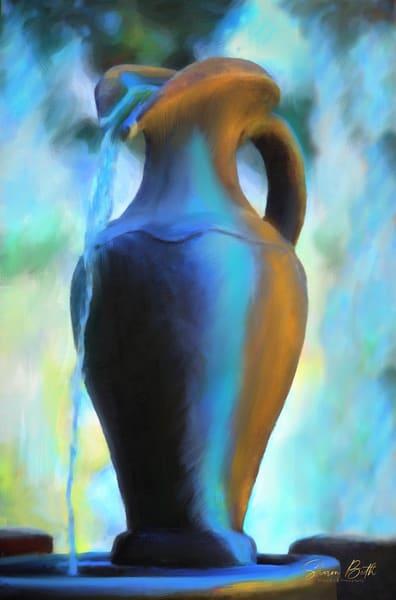 Fountain Urn Art | Sharon Beth