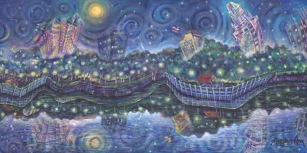 Margaret Ann Lambert - original artwork - surrealism - Starry Night on the Savannah