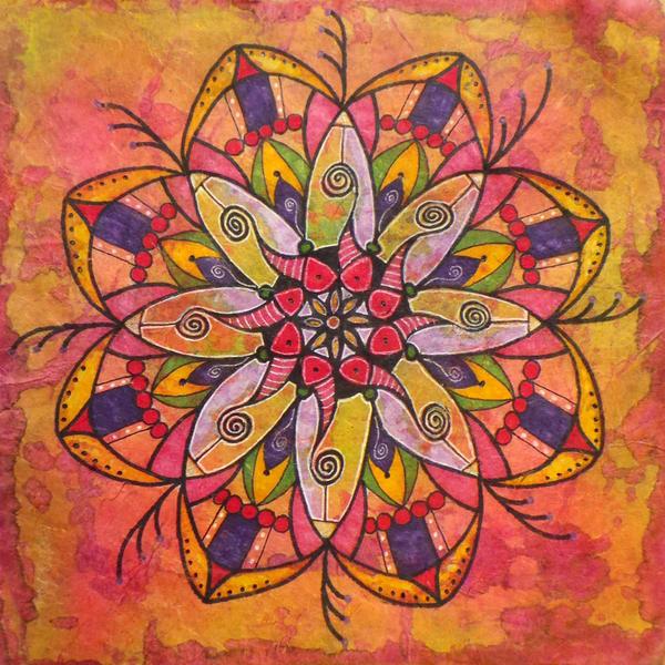 Raspberry Orange, Original Artwork Art | Lynne Medsker Art & Photography, LLC