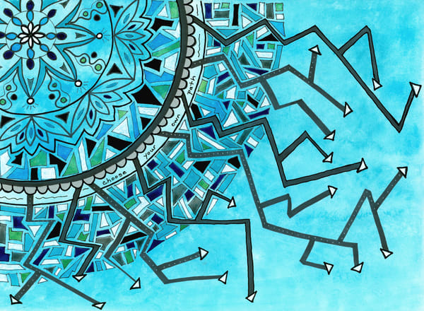 Choose Your Own Path, Original Artwork Art   Lynne Medsker Art & Photography, LLC