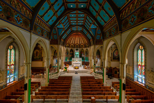 St. John Baptist Catholic Church of Plattsburgh, New York - Fine-art photography prints