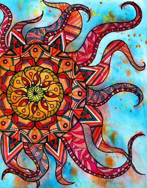 Sunburst Art | Lynne Medsker Art & Photography, LLC