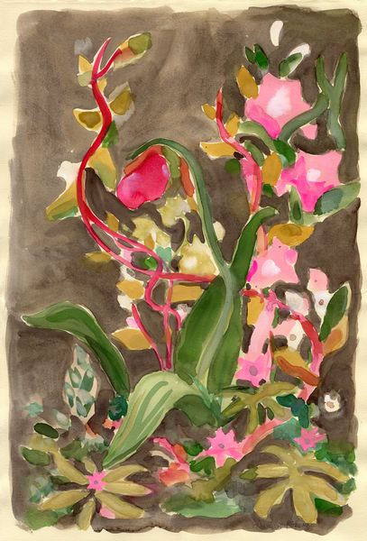 Tom's Grody Flowers | Floral Watercolor Print