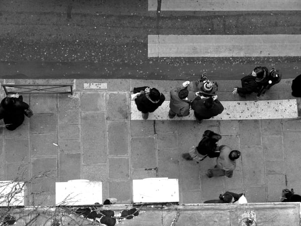 Paris Street Viewed From Above Art | i Art Collector