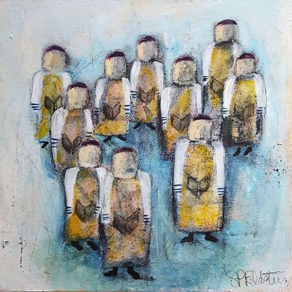 Minyan Original Jewish Art