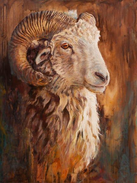 Navajo Churro Ram  Art | Danielsartwork