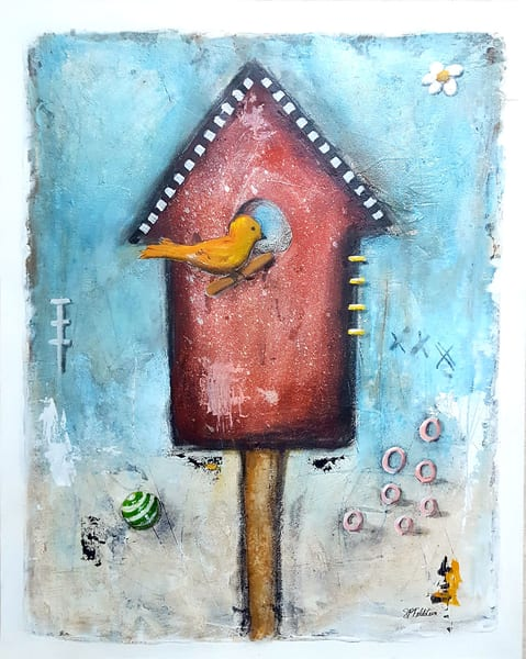The Bird | Original On Paper Art | Southern Heart Studio, LLC