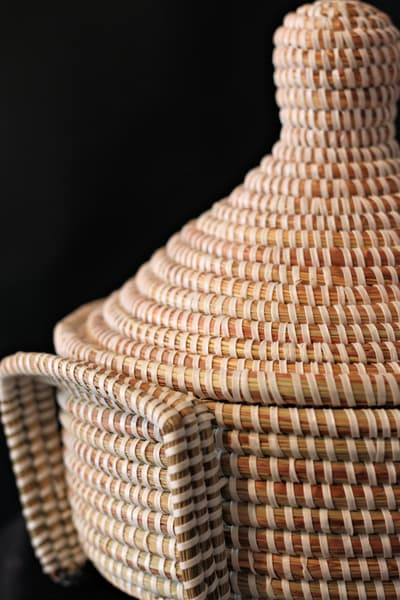 Handmade Sweetgrass Basket Aesha's Basket