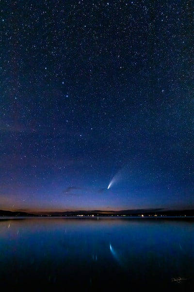 Comet Neowise Over Crystal Lake Photography Art | Drew Smith Photography, LLC